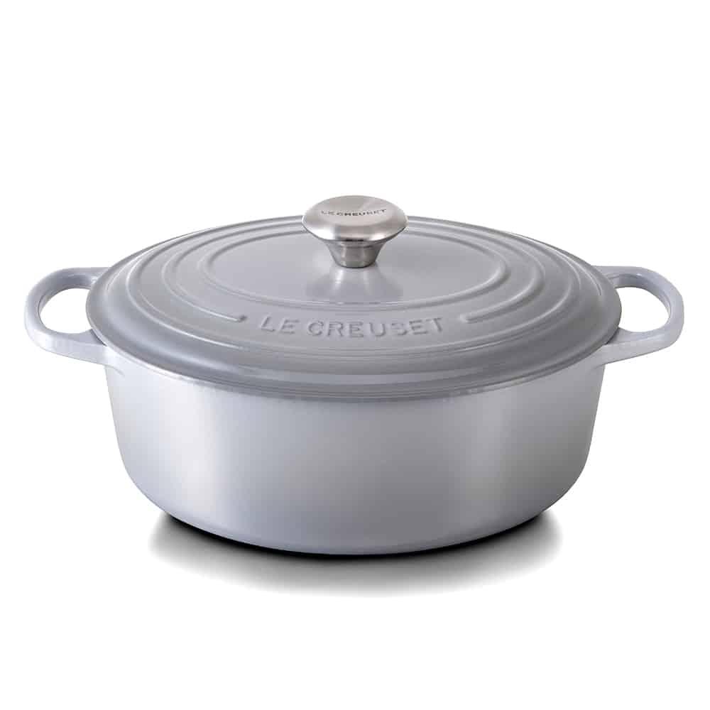 Le Creuset cocotte ovale mist grey