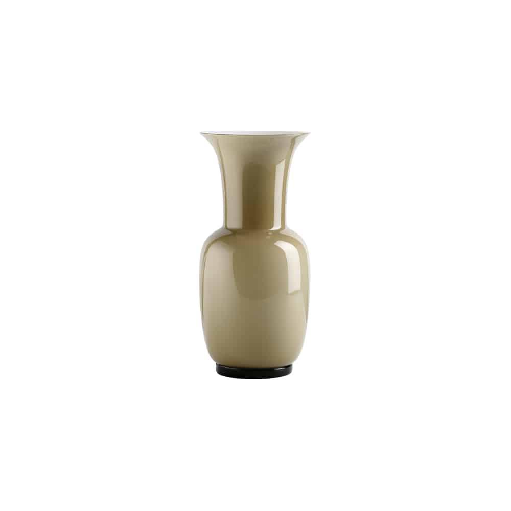 Vaso Opalino di Venini in vetro di Murano soffiato e lavorato a mano
