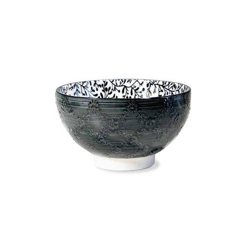 ZAFFERANO TUE TEX medium bowl black TU00622