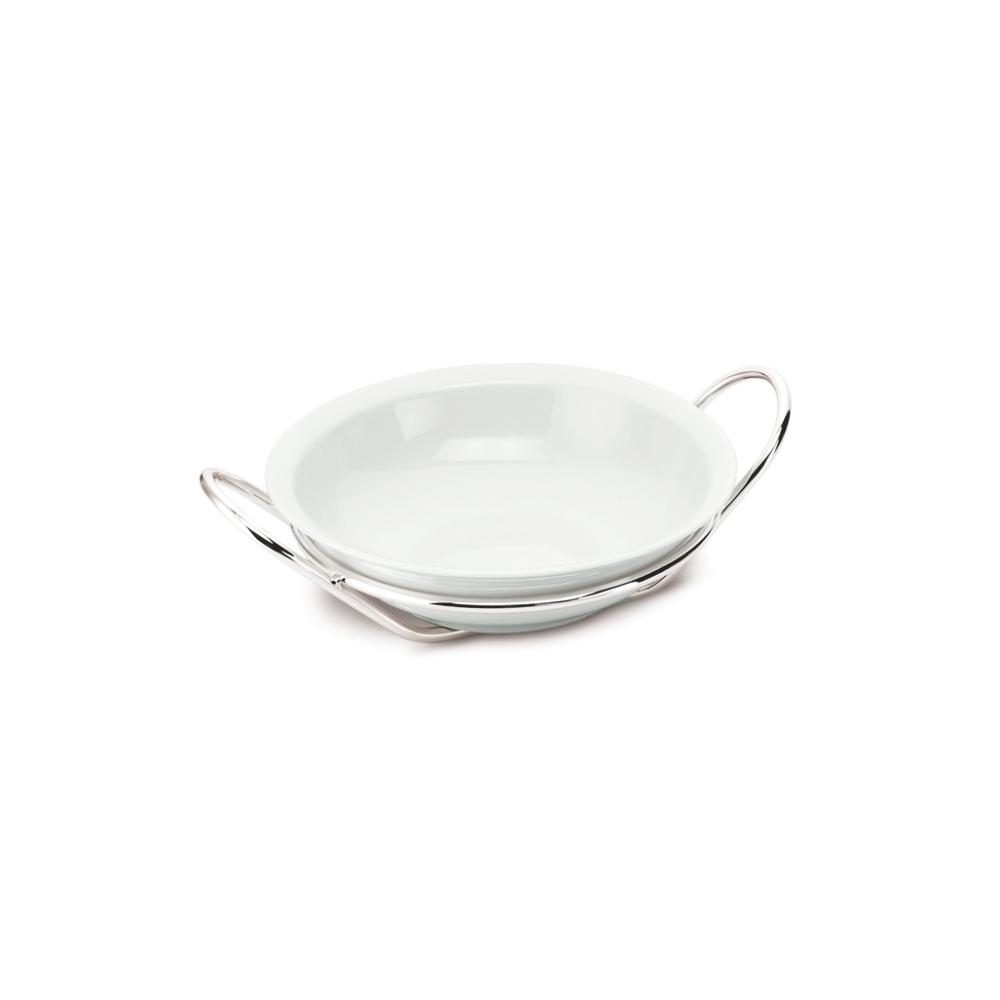 SCHIAVON insalatiera rotonda filo porcellana bianca