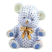 HEREND teddybear blu 15377-0-00-VHB