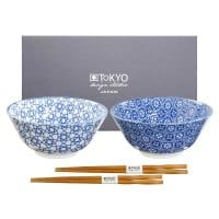 TOKYO DESIGN Nippon Blue gift set 2 bowls 8004