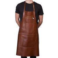 DUTCHDELUXE Zipper style aprons Classic leather Dark Brown