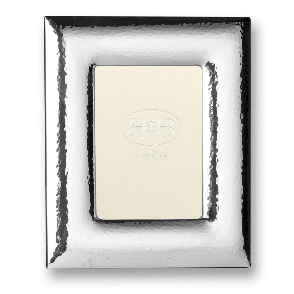 ROSELLI portafoto bombata argento martellato 01735