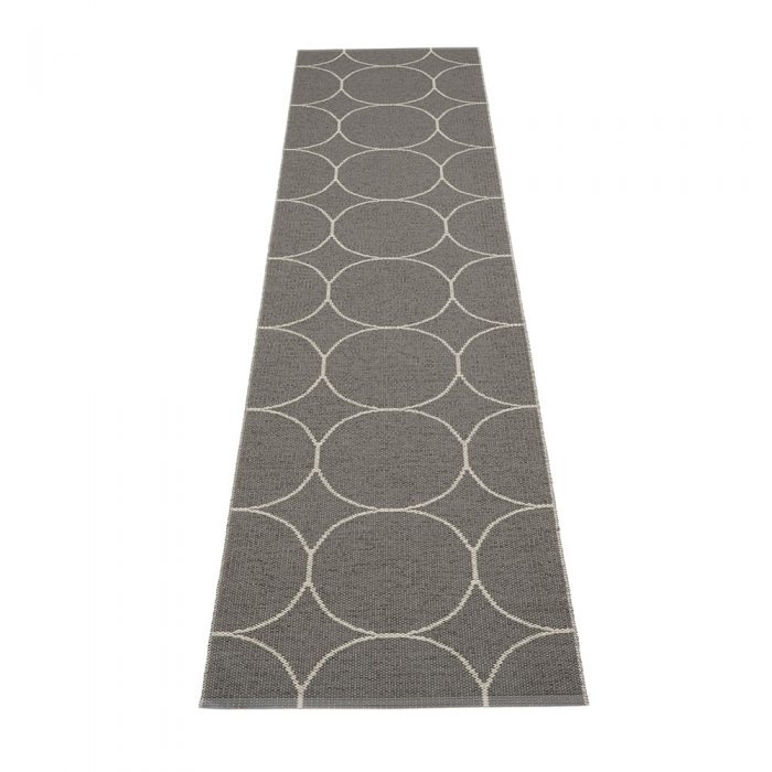 pappelina boo charcoal linen