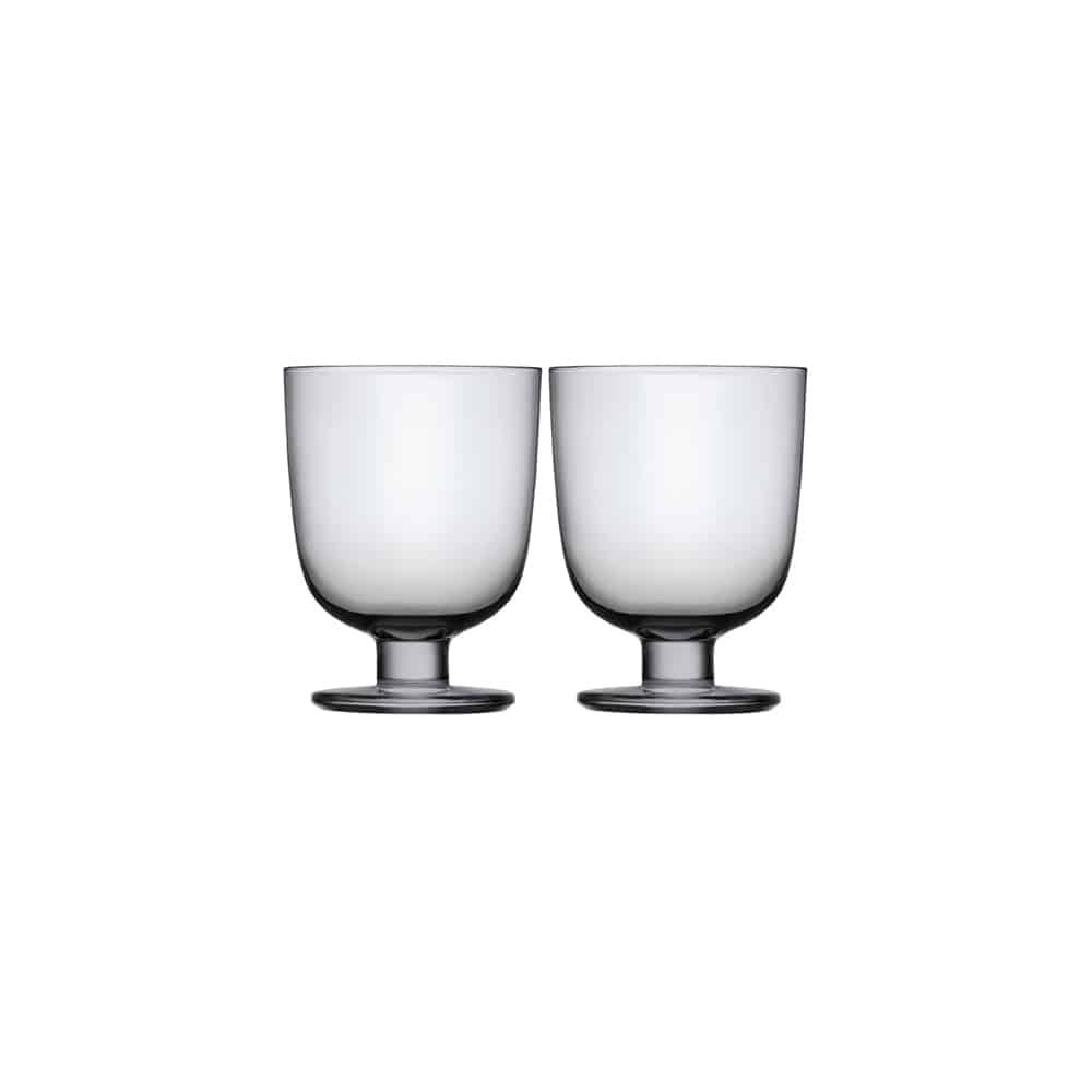 iittala lempi grey glass set of 2