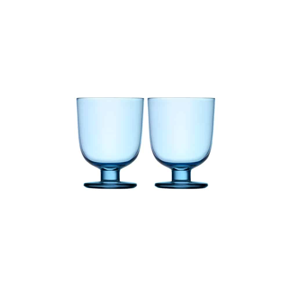 iittala lempi light blue glass set of 2