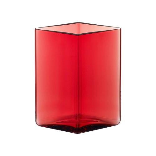 iittala vaso ruutu cranberry 14 cm