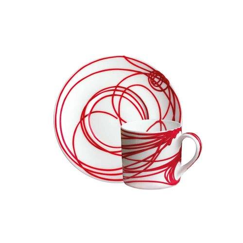 TAITU tazza espresso fil rouge nodi 5-491