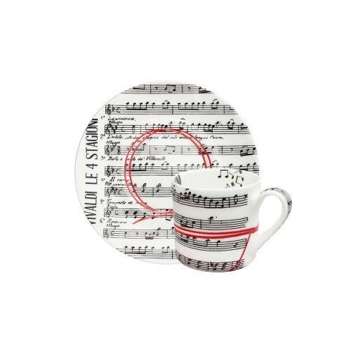 TAITU tazza espresso fil rouge musica 5