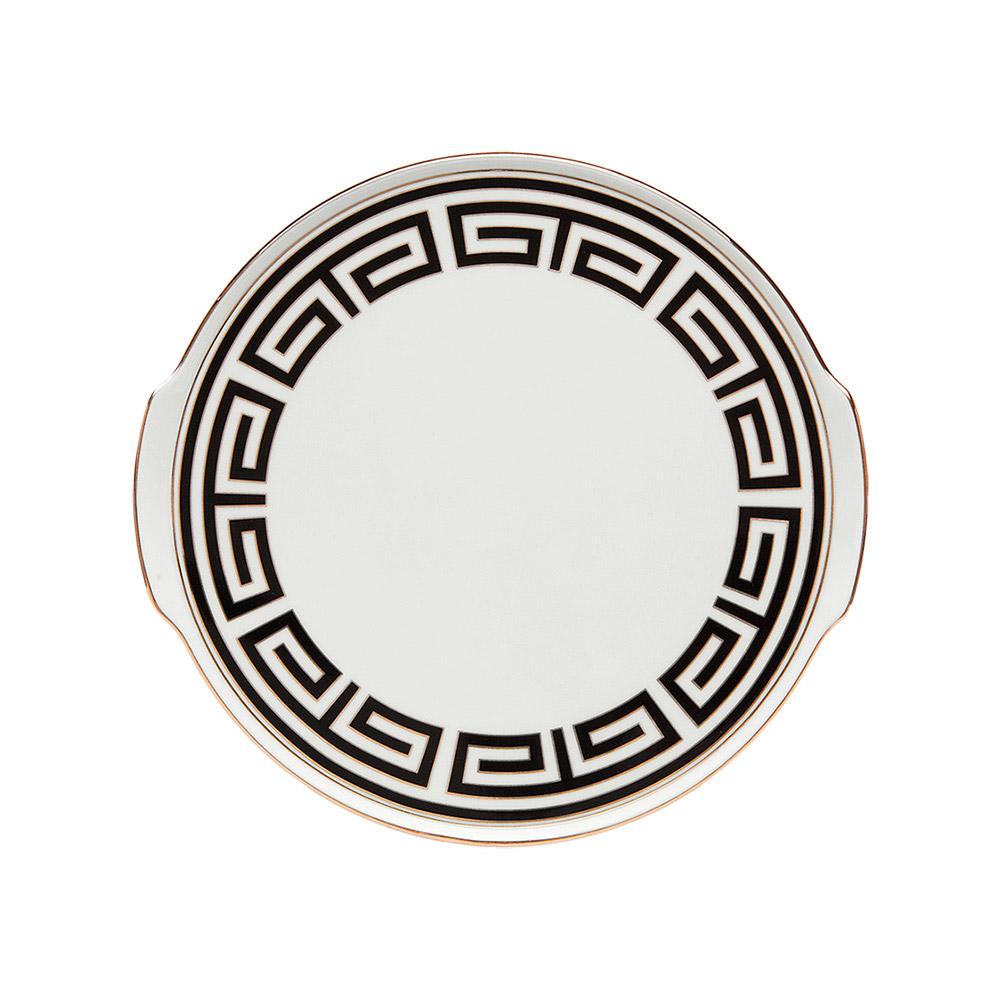 RICHARD GINORI labirinto nero piatto torta