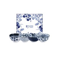 TOKYO DESIGN set 4 ciotole flora japonica 16700