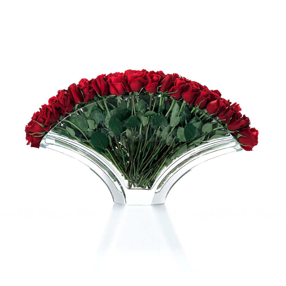 BACCARAT vaso gingko roses