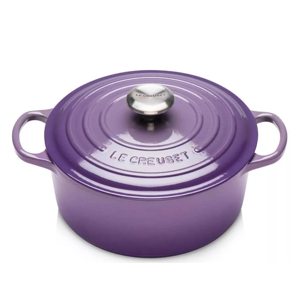 LE CREUSET cocotte tonda violet