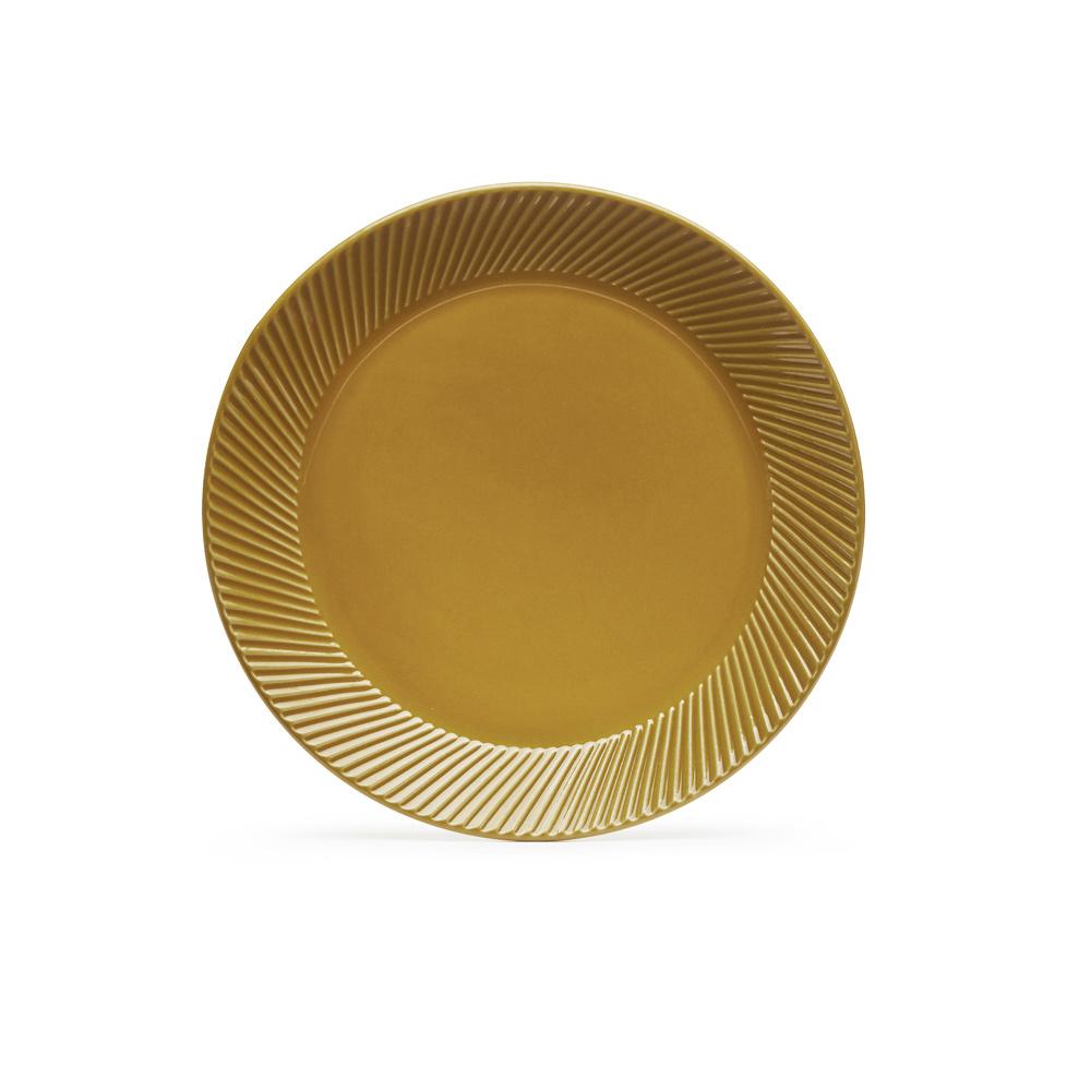 SAGAFORM piatto colazione giallo ocra