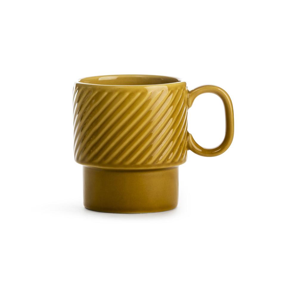 SAGAFORM tazza te giallo ocra 25cl