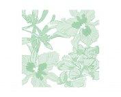 PAVIOT Napkins ethereal flower vert seefp
