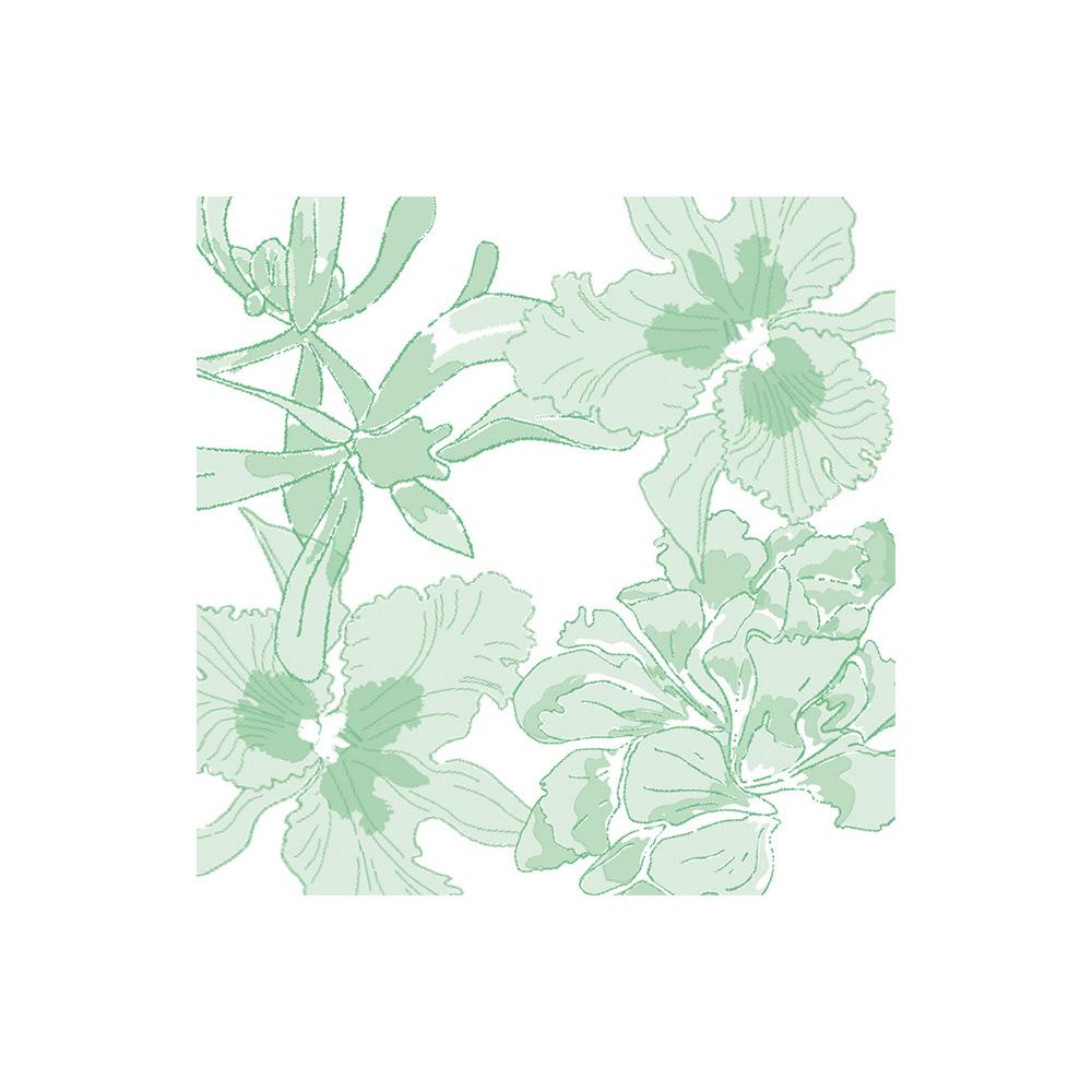 PAVIOT tovaglioli ethereal flower vert seefv