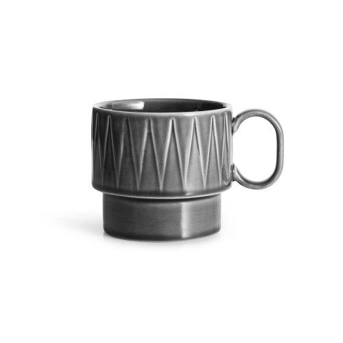 SAGAFORM tazza colazione coffee & more grigio